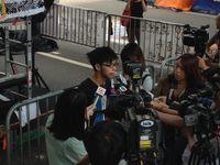 Joshua Wong im Interview bei den Hongkonger Protesten (2014)
