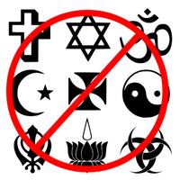 Religionen verboten: Es könnte sich irgendwer daran stören?!