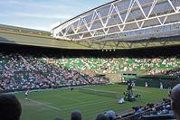 Wimbledon Championships: Der Centre Court, bereits mit dem verschließbaren Dach versehen.