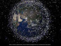 Illustration des Weltraummülls, der unsere Erde umgibt. Bild: ESA
