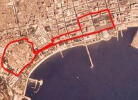 Streckenführung in der Innenstadt von Baku