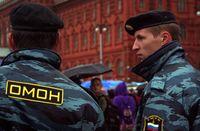 Russische Polizei Omon