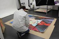 Das sichergestellte Gemälde wird nun auf Spuren untersucht. Bild: Polizei