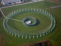 Raumbild der Antennen der Bundeswehr-Fernmeldeaufklärung in Gablingen für den BND. Ehemals United States Army Security Agency Field Station Augsburg / Flugplatz Gersthofen-Gablingen