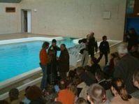 Tierschützer im Nürnberger Delfinarium. Bild: Journal Society GmbH (jsg)