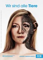 """Johanna Christine Gehlen fordert: """"Menschenaffen raus aus Zoos"""" Bild: """"obs/PETA Deutschland e.V."""""""