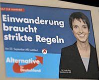 Frauke Petry auf einem Wahlplakat der AfD