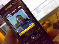 Bildtelefonie auf Mobiltelefon
