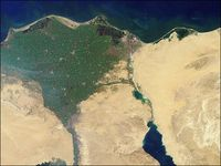 Nildelta: Mix aus Süß- und Meerwasser zur Energiegewinnung. Bild: wikimedia.org