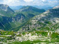 Lechquellengebirge, Blick ins Lechtal