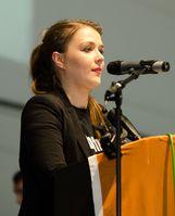 Julia Schramm auf dem Bundesparteitag der Piraten 2012