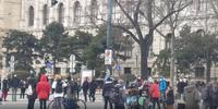 Die Klima-Demo in Wien am 20.03.2021 / Bild: Screenshot Video Wochenblick /UM