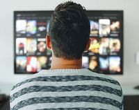 Vorm Fernseher: Twitter lenkt nicht ab.