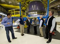Unfertige New-Shepard-Crewkapsel am Firmensitz in Kent