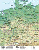 Karte der Bundesrepublik Deutschland (Germany)