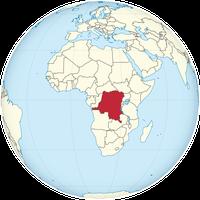 Demokratische Republik Kongo auf der Welt
