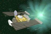 Die Raumsonde Stardust (englisch für Sternenstaub) war eine Mission der NASA, die 1999 gestartet und 2011 beendet wurde. Ziel der Mission war das Einfangen von Partikeln aus der Gashülle (Koma) des Kometen Wild 2 sowie des interstellaren Staubs, die im Januar 2006 zur Erde zurückgebracht wurden.