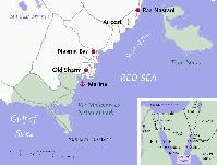 Karte von Scharm el-Scheich