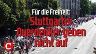 Für die Freiheit: Stuttgarter Querdenker geben nicht auf - Demo vom 8.8.20