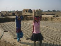 Thousands of children work as bonded labourers in Asia, particularly in the Indian subcontinent.