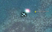 "Bild: Screenshot Youtube Video: ""UFO Abducting Plane on Google Earth Map, UFO Sighting News"""