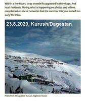 Schneefall in Kurush/Dagestan am 23.08.2020, selbiges in Australien und anderer Länder - es wird kalt! (Symbolbild)