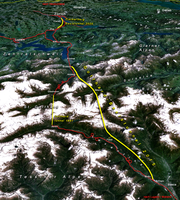 Der neue Gotthard-Basistunnel bildet zusammen mit dem geplanten Zimmerberg-Basistunnel den nördlichen Teil der Gotthardachse der NEAT.