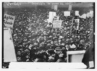 Sozialistische Demonstration zum 1. Mai 1912 am Union Square in New York City