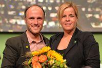 Sven Lehmann mit Mona Neubaur, 2014