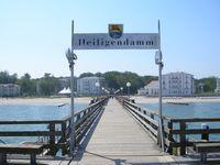 Blick von der Seebrücke auf Heiligendamm