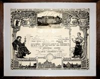 Ein Meisterbrief aus dem Jahr 1926, ausgestellt von der Berliner Handwerkskammer