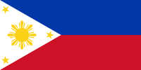 Flagge von Republik der Philippinen