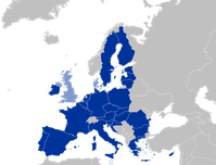 dunkelblau: Pesco-Mitgliederhellblau: übrige EU-Mitglieder