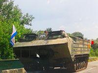 A captured (by the pro-Ukrainian Aidar Battalion) LPR vehicle (9 June 2014)