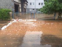 Auswirkung der Schlammwasserlawine in Oberndorf