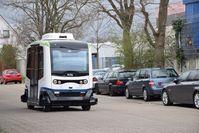 Symbolbild: Autonomer Bus der Stadt Monheim. Bild: Stadt Monheim am Rhein.