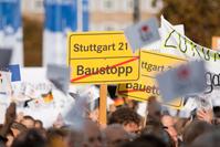 Kundgebung von Stuttgart-21-Befürwortern am 23. Oktober 2010