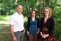 Das HNEE-Projektteam (v.l.n.r): Prof. Dr. Jens Pape, Alexandra Wittwer und Projektleiterin Dr. Melanie Kröger Quelle: © HNEE 2018 (idw)
