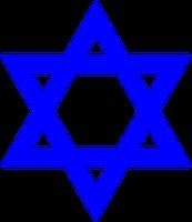 """Davidstern: Wird von dem Glauben """"Judentum"""" benutzt. Er ist tatsächlich das alte Symbol für männliche (Dreieckspitze oben) und weibliche (Dreieckspitze unten) in Kombination und ist wie das sog. Hackenkreuz Symbol für Frieden."""
