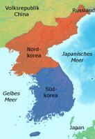 Das geteilte Korea Bild: Johannes Barre / de.wikipedia.org
