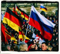 So lange Deutschland (Mitteleuropa) und Russland zusammen arbeiten, herrscht Frieden in Europa und Asien (Symbolbild)