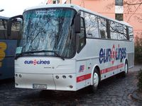 Fernlinienbus der Eurolines nach Polen