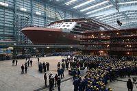 Halle 6 bei der Grundsteinlegung zur Erweiterung der Meyer Werft