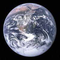 Die Erde, aufgenommen von Apollo 17 am 7. Dezember 1972 Bild: de.wikipedia.org