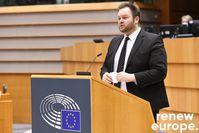 Engin Eroglu, MdEP, bei einer Rede im Europäischen Parlament  Bild: Engin Eroglu MdEP (Renew Europe Fraktion) Fotograf: Engin Eroglu MdEP (Renew Europe Fraktion)