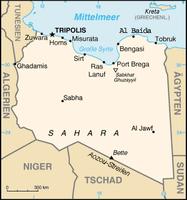 Karte Libyens Bild: de.wikipedia.org