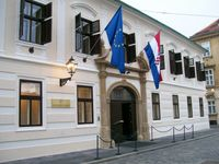 Gebäude der kroatischen Regierung in Zagreb