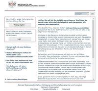 Screenshot der Wirtschafts- und Korruptionsstaatsanwaltschaft (WKStA) Webseite