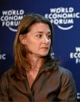 Melinda Gates 2009 in Davos