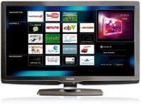 Wie beim iPhone können auf dem TV-Bildschirm Internet-Dienste angewählt werden. Bild: Philips